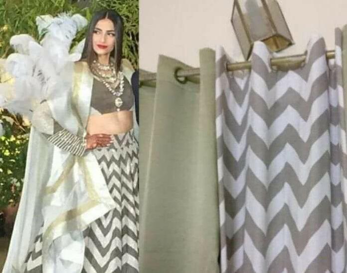 sonam kapoor curtain dress pic