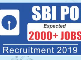 sbi po vacancies 2019